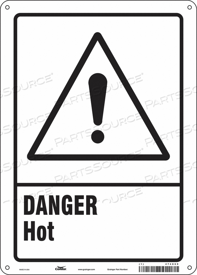 DANGER SIGN 10 W X 14 H 0.055 THICK by Condor