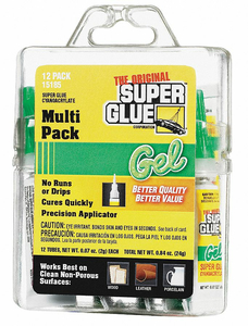 INSTANT ADHESIVE 2G TUBE CLEAR PK12 by Super Glue