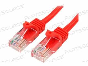 STARTECH.COM SNAGLESS CAT 5E UTP PATCH CABLE - PATCH CABLE - RJ-45 (M) TO RJ-45 (M) - 10 FT - UTP - CAT 5E - SNAGLESS - RED