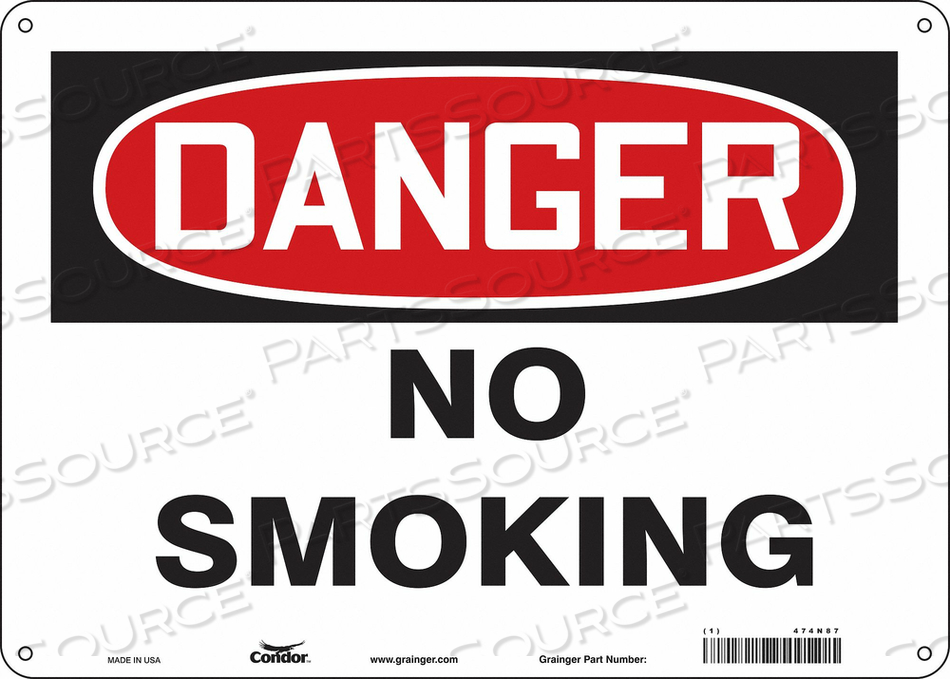 J6937 SAFETY SIGN 14 W 10 H 0.070 THICKNESS by Condor