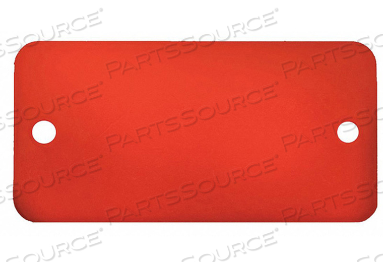 BLANK TAG RECTANGLE RED PK5 by C.H. Hanson