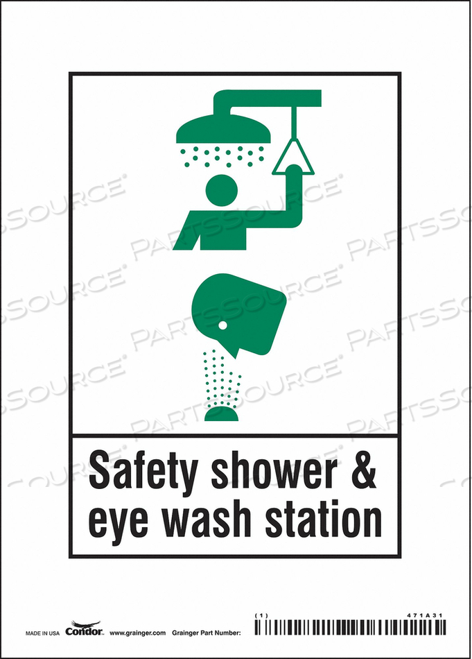 SAFETY SIGN 5 W X 7 H 0.004 THICK by Condor