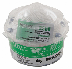 DISPOSABLE RESPIRATOR M/L N95 MOLDED PK5 by Moldex