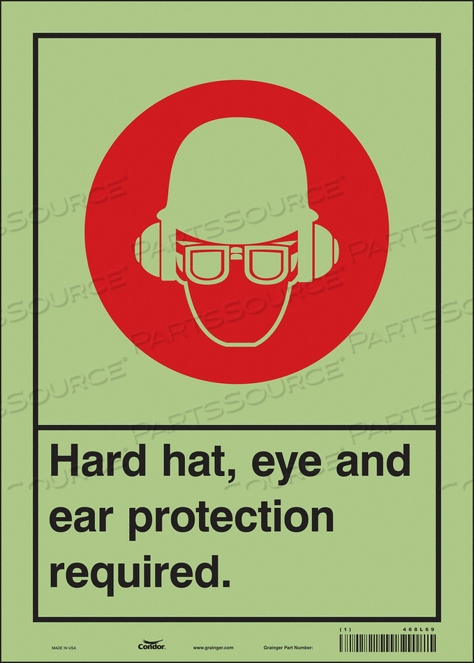 SAFETY SIGN 10 WX14 H 0.010 THICKNESS by Condor