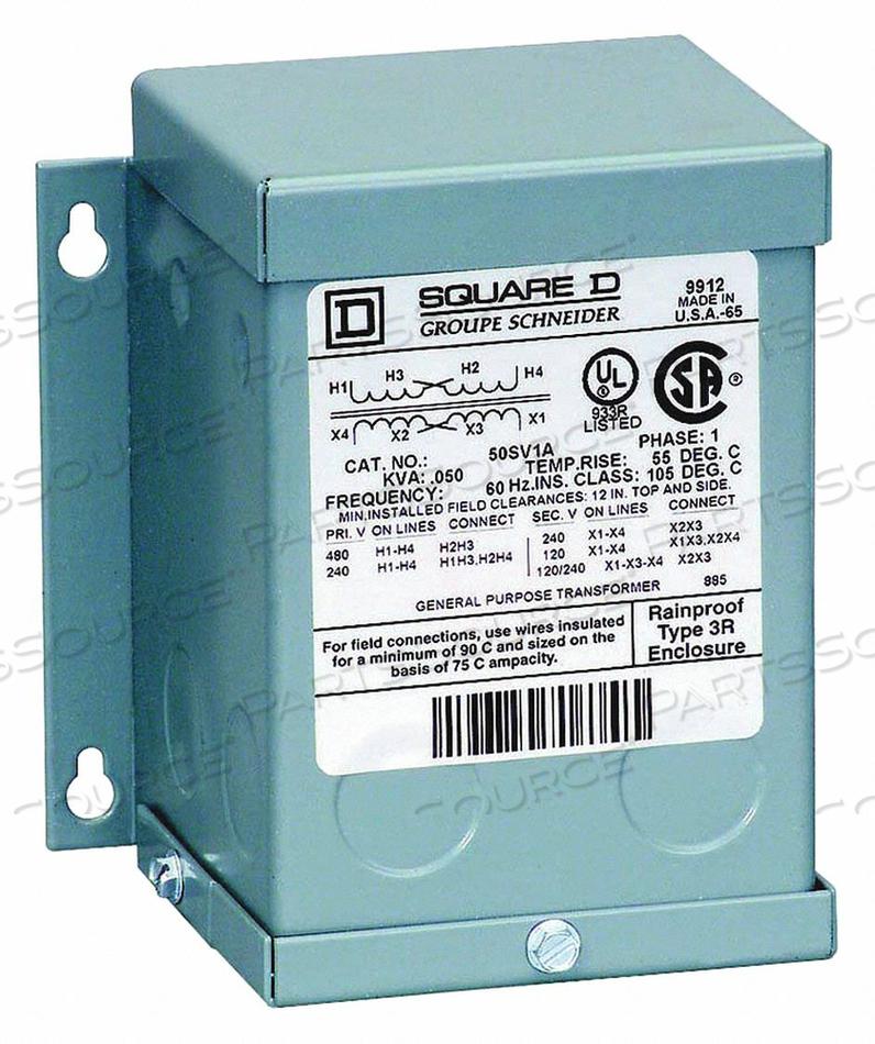 TRANSFORMER 240/480VAC 24/48VAC 500VA by Square D