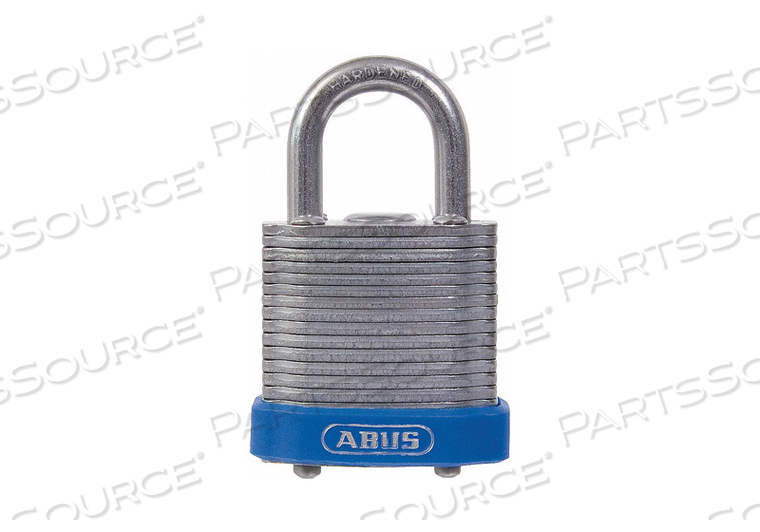 KEYED PADLOCK 19/32 IN RECTANGLE SILVER by Abus