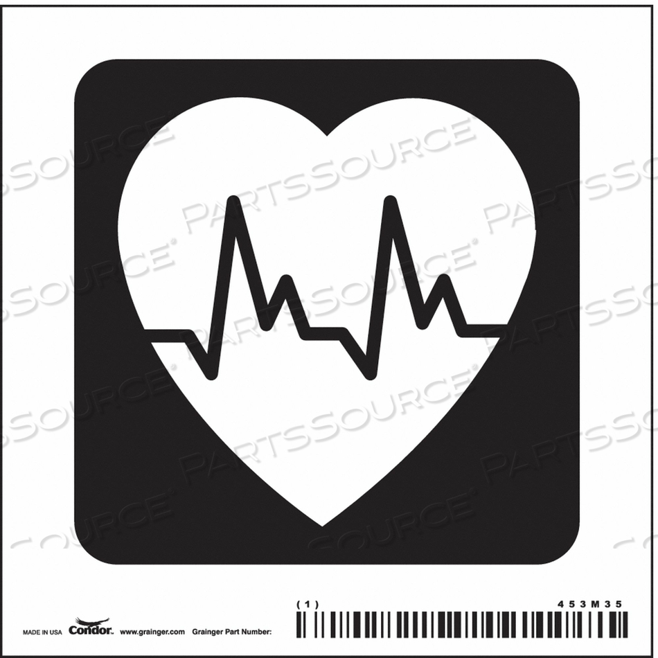 HOSPITAL SIGN 4 H X 4 W 0.004 THICK by Condor