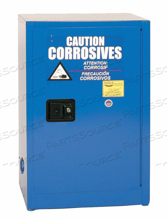 CORROSIVE SAFETY CABINET MANUAL BLUE by Eagle