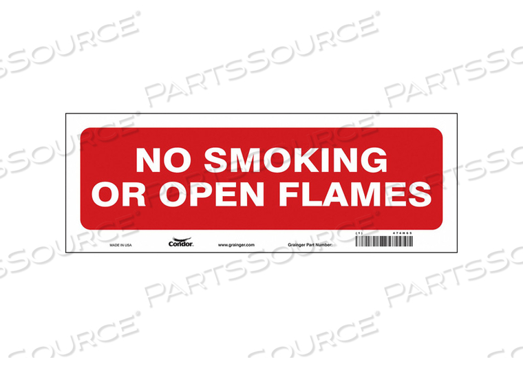 SAFETY SIGN 14 W 5 H 0.004 THICKNESS by Condor