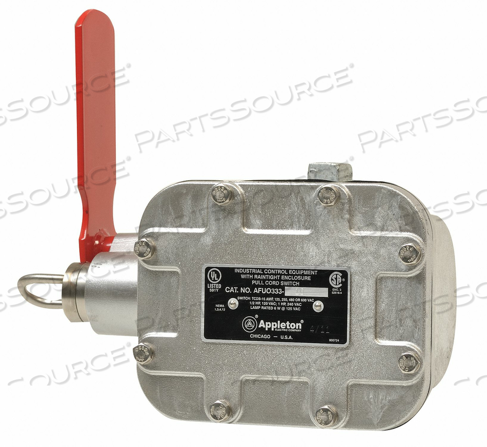 CABLE PULL SWITCH 15A LEFT 25 LBS TCDB by Appleton Electric