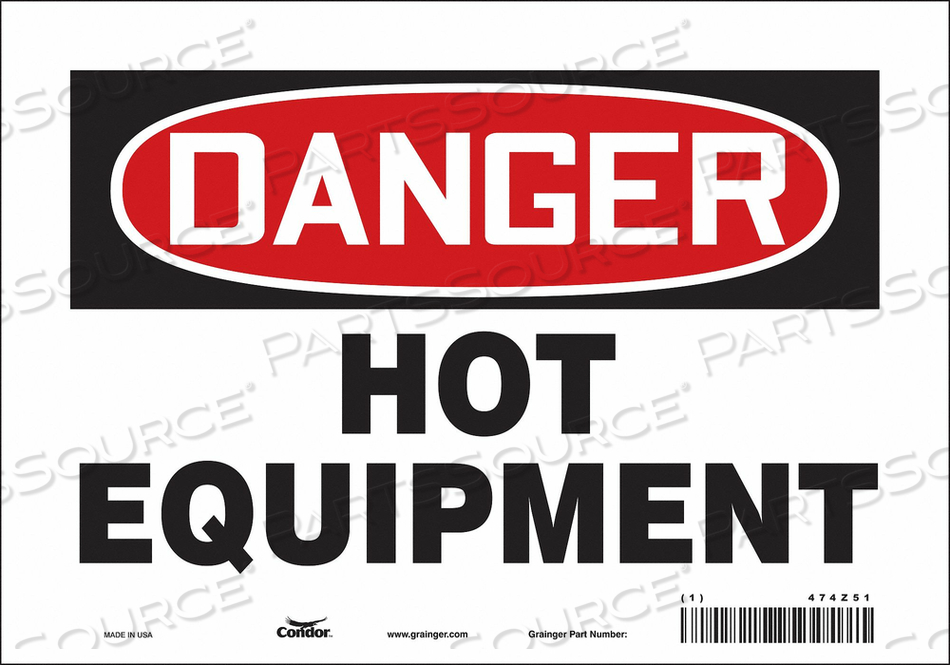 DANGER SIGN 10 W X 7 H 0.004 THICK by Condor