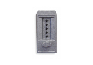 PUSH BUTTON LOCK ENTRY GRAY POWDER PAINT by Kaba