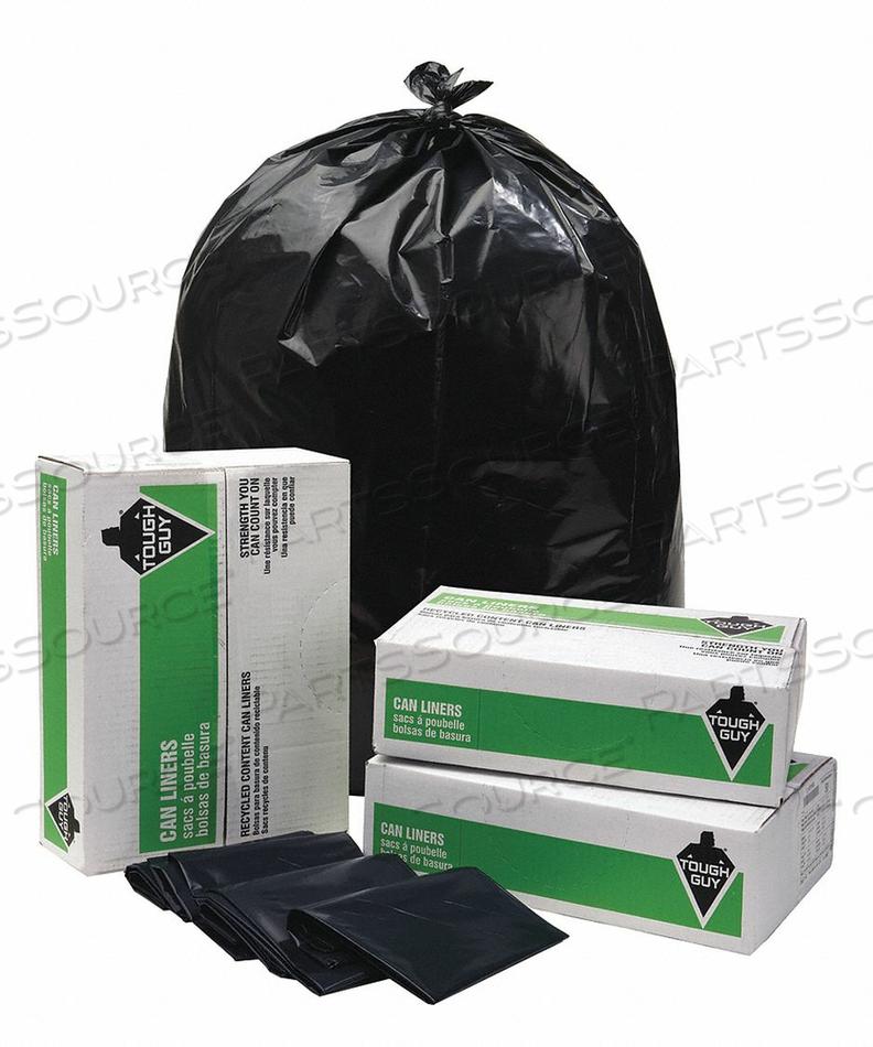 TRASH BAG 33 GAL. BLACK PK50 by Tough Guy
