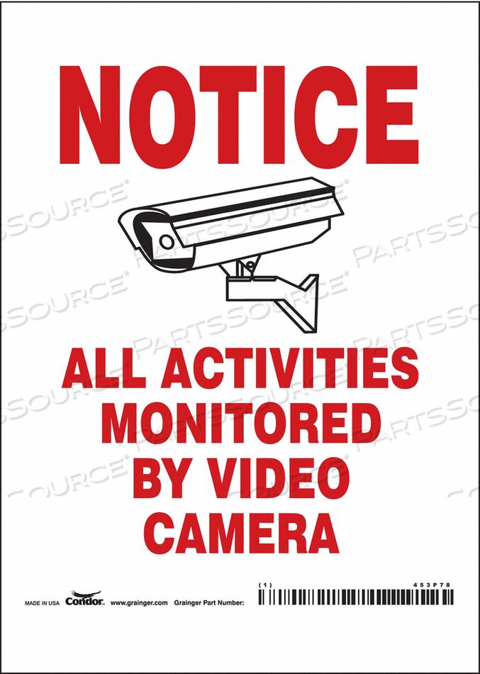 SECURITY SIGN 7 H 5 W VINYL by Condor