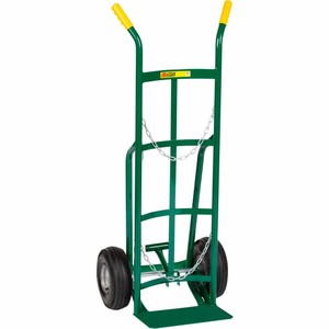 SINGLE CYLINDER TRUCK WITH FOLDING FOOT KICK AND DUAL HANDLE by Little Giant