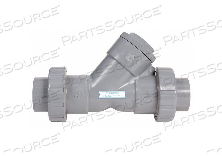 Y TRUE UNION CHECK VALVE CPVC 4 FNPT by Hayward