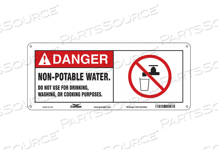 SAFETY SIGN 17 W X 7 H 0.032 THICK by Condor