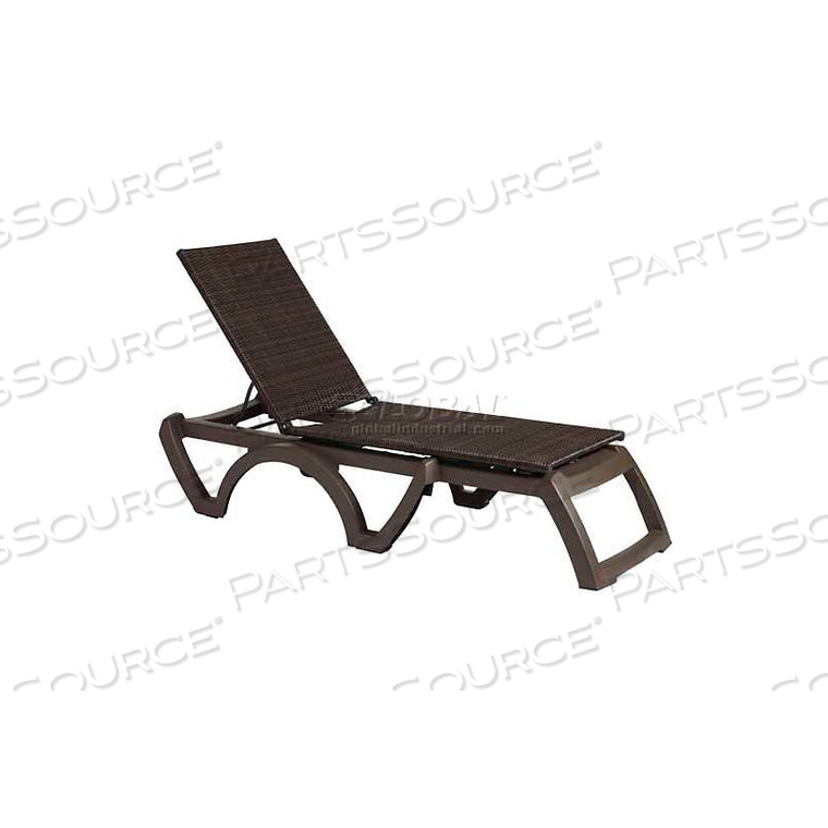 JAVA ALL-WEATHER WICKER CHAISE - ESPRESSO (SOLD IN PK. QTY 2) by Grosfillex