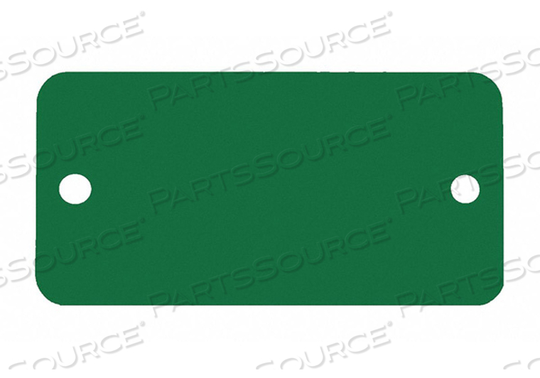BLANK TAG RECTANGLE GREEN PK5 by C.H. Hanson