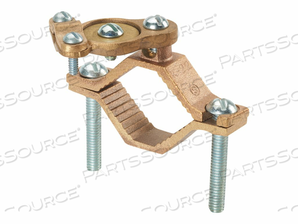 PANDUIT STRUCTURED GROUND MECHANICAL CONNECTORS BRONZE GROUND CLAMP FOR ARMORED CABLE WITH SWIVEL - GROUNDING CLAMP KIT by Panduit