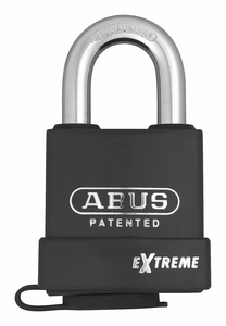 KEYED PADLOCK 1 IN RECTANGLE BLACK by Abus