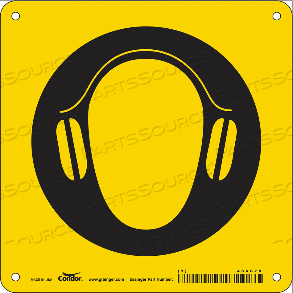 SAFETY SIGN 7 W 7 H 0.060 THICKNESS by Condor