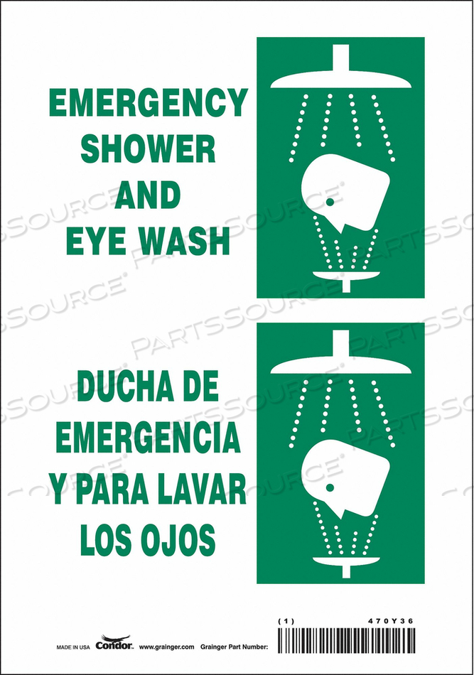 J6979 SAFETY SIGN 7 W X 10 H 0.004 THICK by Condor