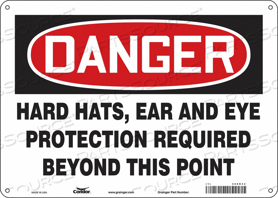 SAFETY SIGN 14 WX10 H 0.032 THICKNESS by Condor