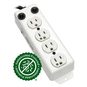 TRIPP LITE POWER STRIP MEDICAL 4 OUTLET UL1363A 3FT-10FT COILED CORD by Tripp Lite