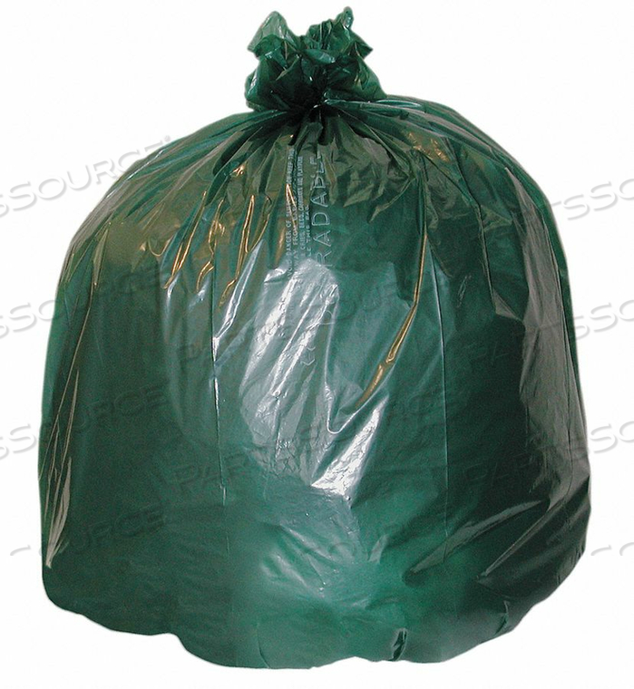 COMPOSTABLE TRASH BAG 64 GAL. GREEN PK30 by Ability One
