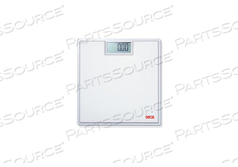 DIGITAL FLAT SCALE FOR INDIVIDUAL PATIENT USE, WHITE MAT, 330 LB/150 KG, DIGITAL DISPLAY