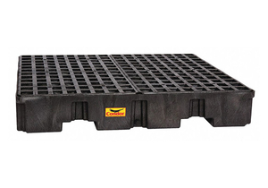 DRUM SPILL CONTAINMENT PALLET BLACK by Condor