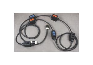 FEED THROUGH POWER STRINGER, 60 FT, 20 A, 120/208 VAC, 10 AWG, NEMA L21-20P TO NEMA 5-20R, BLACK by KH Industries