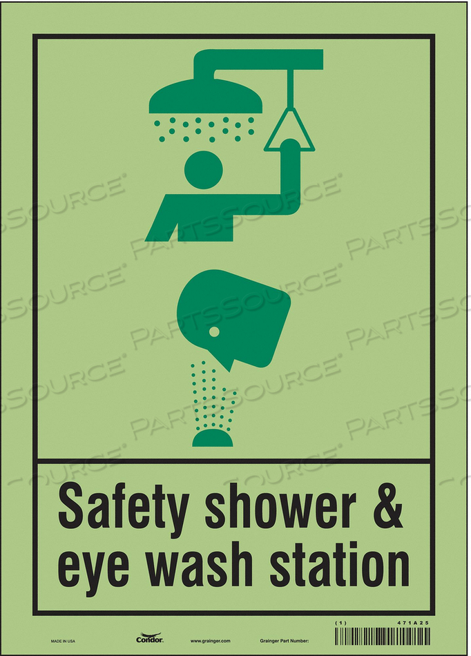 SAFETY SIGN 10 W X 14 H 0.010 THICK by Condor