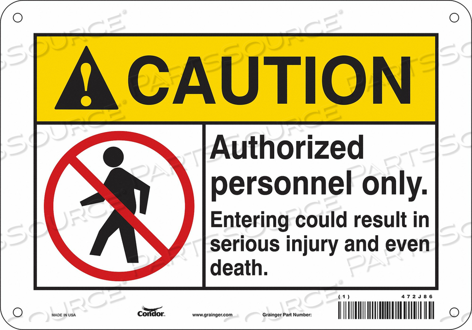 K1879 SAFETY SIGN 10 W 7 H 0.055 THICKNESS by Condor