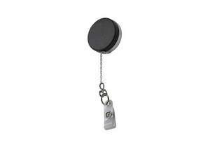 BADGE REEL BLACK/CHROME CHAIN CORD 3/4 D by Lucky Line Products