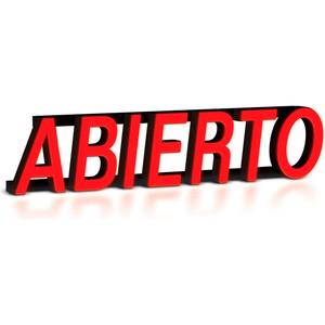 "MYSTIGLO ABIERTO LED SIGN - 23-1/2""W X 6""H by CM Global"
