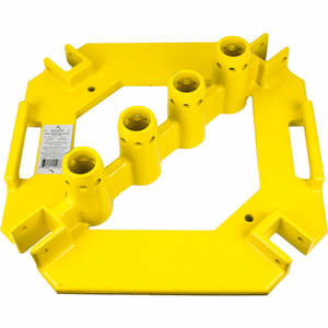 """QUICKSET MULTI-DIRECTIONAL BASEPLATE, POWDER COATED STEEL, 21-3/16""""W X 21-1/2""""D X 6""""H by Guardian Fall Protection"""