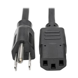 POWER CORD, 1 FT, 10 A, 125 V, 18 AWG, NEMA 5-15P TO IEC 320-C13, BLACK by Tripp Lite