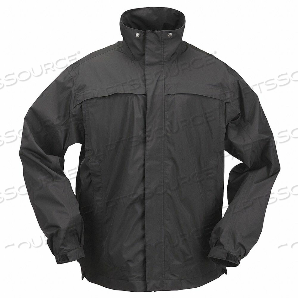 RAIN JACKET UNRATED BLACK L by 5.11 Tactical
