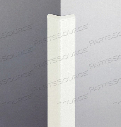 CORNER GRD 96IN.H LINEN WHITE PEBLETTE by Pawling Corp