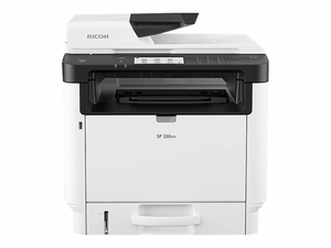 RICOH SP 330SFN - MULTIFUNCTION PRINTER - B/W - LASER - LEGAL (8.5 IN X 14 IN) (ORIGINAL) - A4/LEGAL (MEDIA) - UP TO 34 PPM (COPYING) - UP TO 34 PPM (PRINTING) - 300 SHEETS - 33.6 KBPS - USB 2.0, LAN by Ricoh