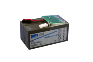 BATTERY, LEAD ACID, 6.4 AH, 8 V, FASTON F2 by Welch Allyn Inc.