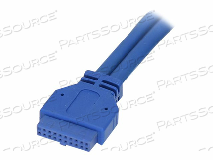 STARTECH.COM 2 PORT PANEL MOUNT USB 3.0 CABLE - USB A TO MOTHERBOARD HEADER CABLE F/F - USB INTERNAL TO EXTERNAL CABLE - 9 PIN USB TYPE A (F) TO 20 PIN IDC (F) - 1.6 FT ( USB 3.0 ) - BLUE