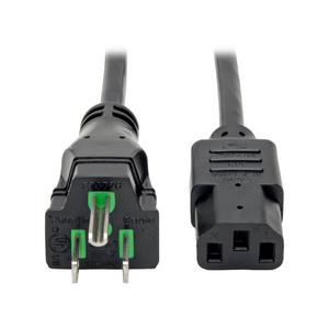 POWER CORD, 25 FT, 15 A, 125 V, 14 AWG, NEMA 5-15P TO IEC 320-C13, BLACK by Tripp Lite