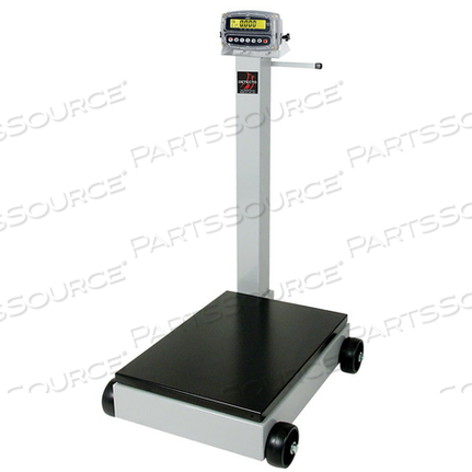 PORTABLE DIGITAL FLOOR SCALE, 1000 LB WITH 190 INDICATOR AND TOWER DISPLAY, LEGAL FOR TRADE by Detecto Scale / Cardinal Scale