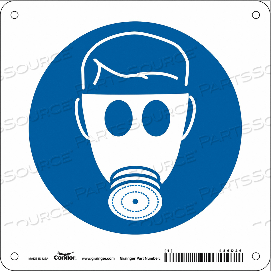 SAFETY SIGN 7 W 7 H 0.055 THICKNESS by Condor