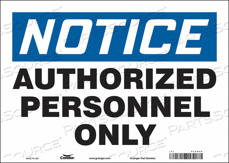 J6992 SAFETY SIGN 14 W 10 H 0.004 THICKNESS by Condor