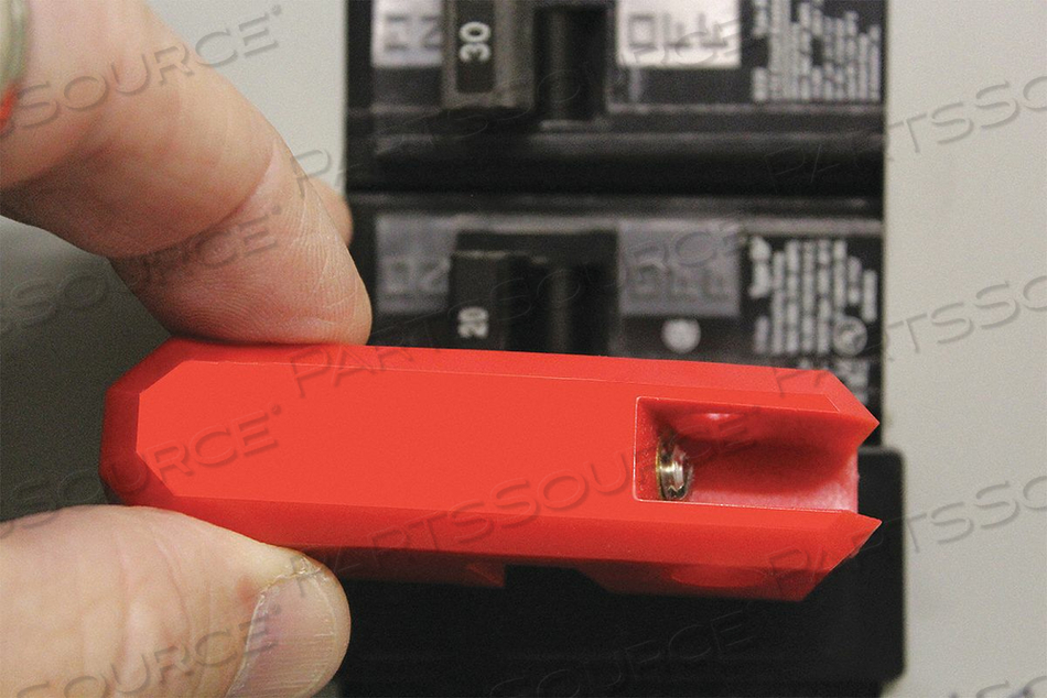 CIRCUIT BREAKER LOCKOUT 3/4 IN H RED by Condor