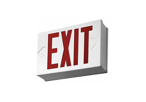 EXIT SIGN WITH BATTERY BACKUP 3.80W RED by Lithonia Lighting